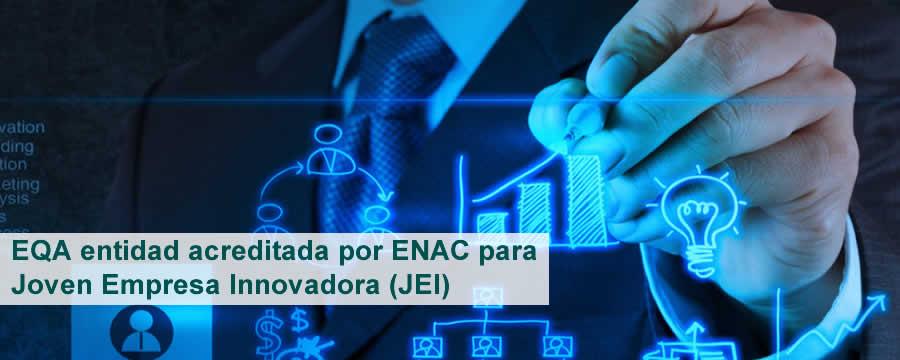 EQA entidad acreditada por ENAC para Joven Empresa Innovadora (JEI)